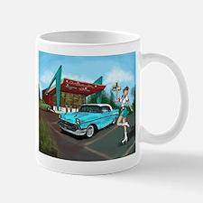1957 Classic Car-Car Hop Pin-up Mug