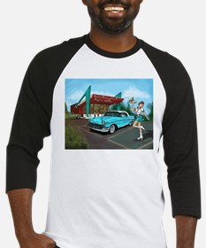 1957 Classic Car-Car Hop Pin-up Baseball Jersey