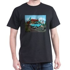 1957 Classic Car-Car Hop Pin-up T-Shirt