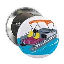 "Pontoon Boat Retro 2.25"" Button"