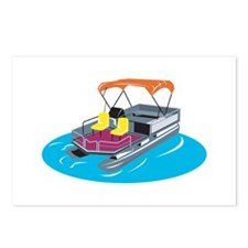 Pontoon Boat Retro Postcards (Package of 8)