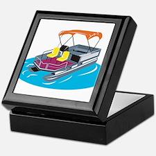 Pontoon Boat Retro Keepsake Box
