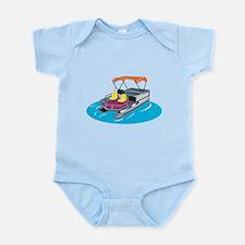 Pontoon Boat Retro Infant Bodysuit