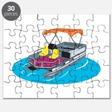Pontoon Boat Retro Puzzle