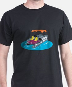 Pontoon Boat Retro T-Shirt