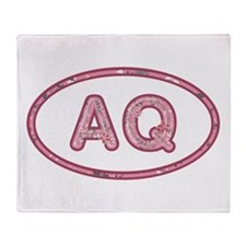 AQ Pink Throw Blanket