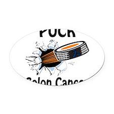 Puck Colon Cancer Oval Car Magnet
