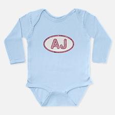 AJ Pink Long Sleeve Infant Bodysuit