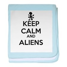 Keep Calm And Aliens baby blanket