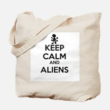 Keep Calm And Aliens Tote Bag