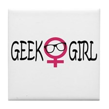 Geek Girl Tile Coaster