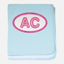 AC Pink baby blanket