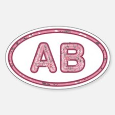 AB Pink Sticker (Oval)