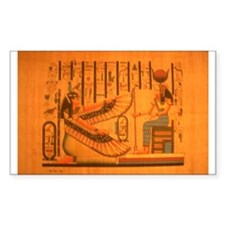 MAAT AND AUSET (ISIS) Rectangle Decal