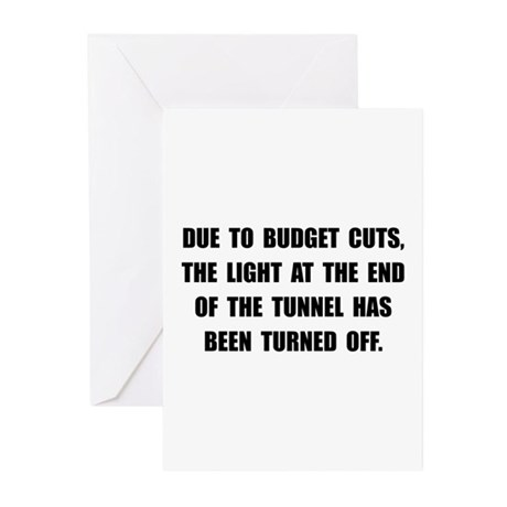 Budget Cuts Greeting Cards (Pk of 20)
