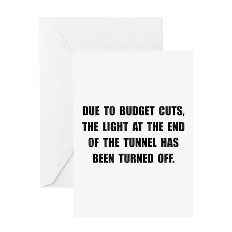 Budget Cuts Greeting Card