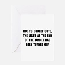 Budget Cuts Greeting Card
