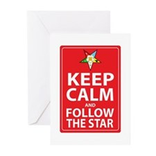 Keep Calm Follow the Star Greeting Cards (Pk of 20