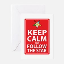 Keep Calm Follow the Star Greeting Cards (Pk of 10