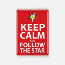 Keep Calm Follow the Star Rectangle Magnet (10 pac