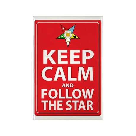 Keep Calm Follow the Star Rectangle Magnet