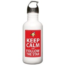 Keep Calm Follow the Star Water Bottle