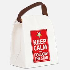 Keep Calm Follow the Star Canvas Lunch Bag