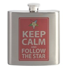 Keep Calm Follow the Star Flask