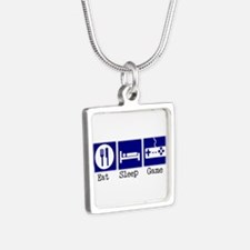 17st.bmp Silver Square Necklace