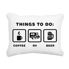 RV Enthusiast Rectangular Canvas Pillow