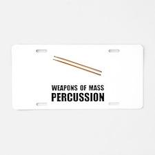 Drum Mass Percussion Aluminum License Plate