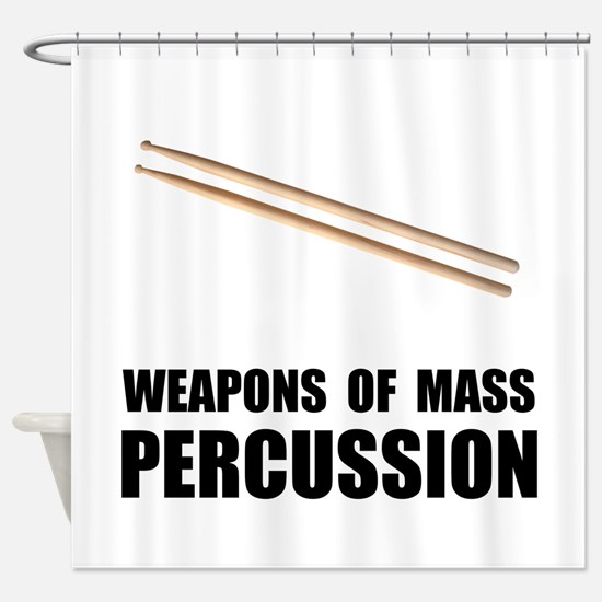 Drum Mass Percussion Shower Curtain