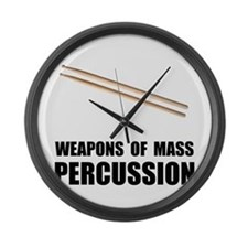 Drum Mass Percussion Large Wall Clock