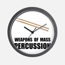 Drum Mass Percussion Wall Clock