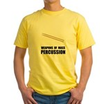 Drum Mass Percussion Yellow T-Shirt