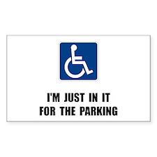 Handicap Parking Decal