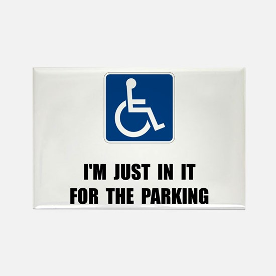 Handicap Parking Rectangle Magnet (10 pack)