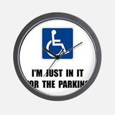 Handicap Parking Wall Clock