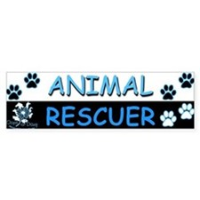 I [Love] MY RESCUE (Blue) Sticker (Bumper)