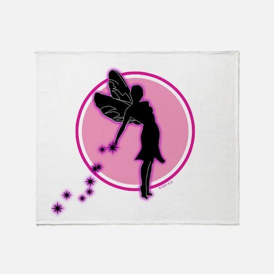 fairyonpinkcircle Throw Blanket
