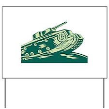 World War Two Battle Tank Yard Sign