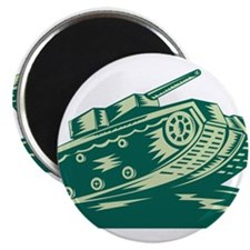 "World War Two Battle Tank 2.25"" Magnet (10 pack)"