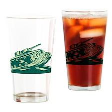 World War Two Battle Tank Drinking Glass