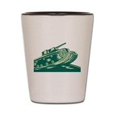 World War Two Battle Tank Shot Glass