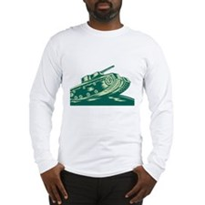 World War Two Battle Tank Long Sleeve T-Shirt