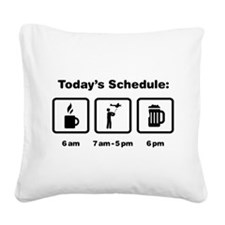 RC Airplane Square Canvas Pillow