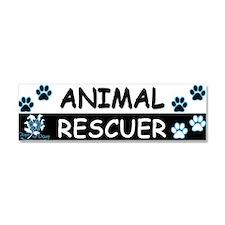 ANIMAL RESCUER (Black, Blue) Car Magnet 10 x 3