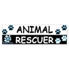 ANIMAL RESCUER (Black, Blue) Bumper Sticker
