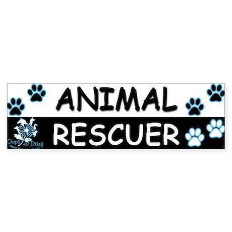 ANIMAL RESCUER (Black, Blue) Sticker (Bumper)