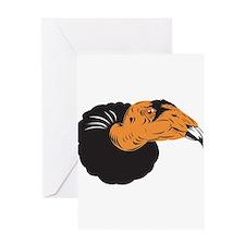 Vulture Buzzard Head Greeting Card